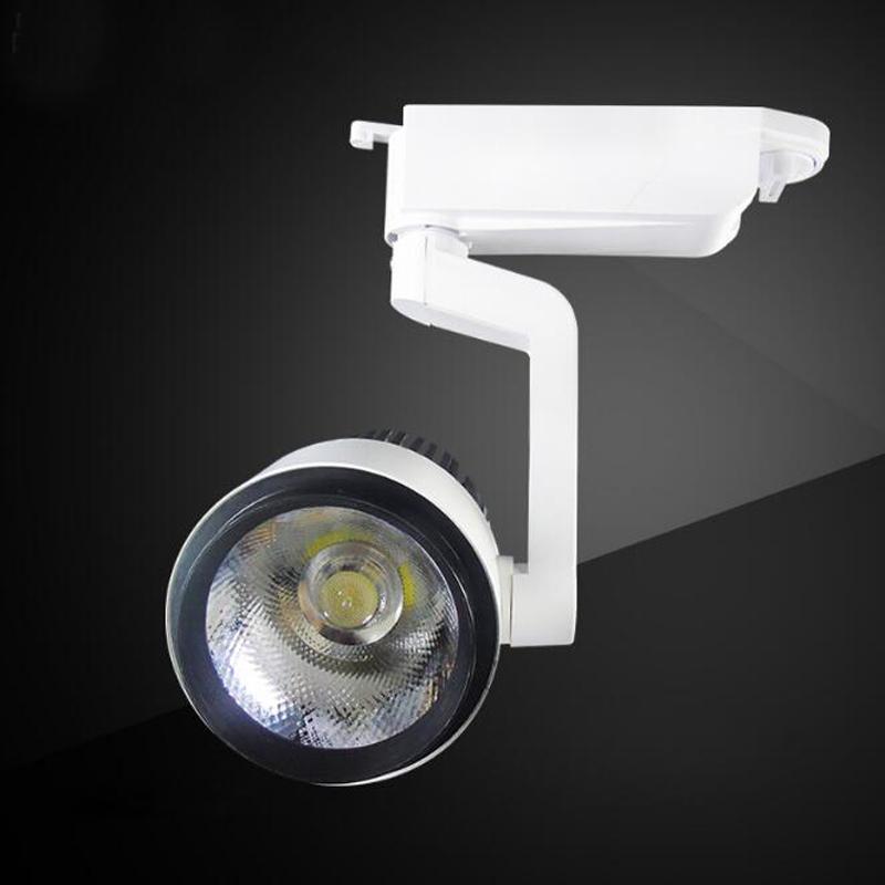 Fanlive 10 adet Demiryolu Mağaza Aydınlatma 15 w 20 w 30 W COB LED Modern Parça Siyah / Beyaz Kabuk Spot Duvar Işık Rayları Nokta