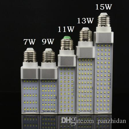 DHL LED Bulbs E27 G24 G23 LED Corn Bulb Lamp Light SMD 2835 Spotlight 180 Degree AC85-265V Horizontal Plug Light