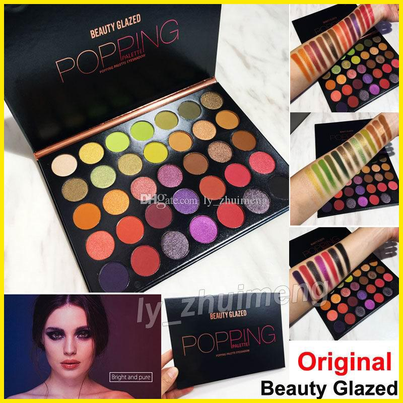 Newest Beauty Glazed 35 Colors Eyeshadow popping palette Nude matte shimmer eye shadow hills palette Brand Cosmetics