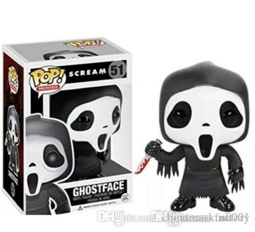 China US FUNKO POP Scream Ghostface cara del fantasma de vinilo # figura de acción de juguete