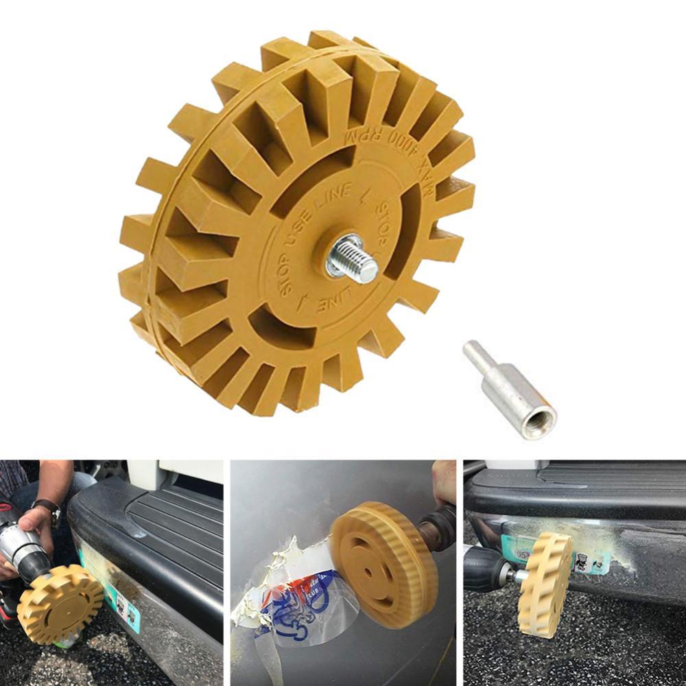 4 pollici 100 millimetri Auto Sticker Rimuovere Kit Anti Scratch Eraser Wheel Power Drill pratico adattatore Gessato gomma efficace Smooth