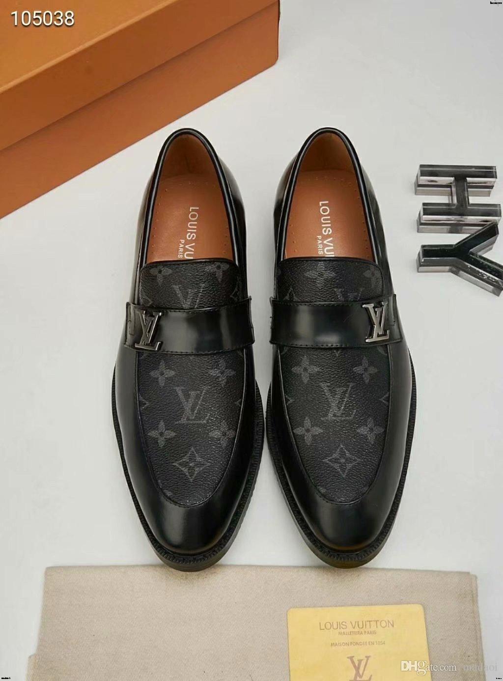 19MM designers chaussures en cuir formel MAN marques de luxe robe chaussures bureau de mariage chaussures hommes oxfords pour UTH italien mocassins YETC0