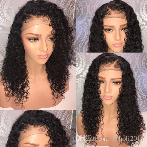 DIVA 360 Lace Wig curly 180% Density Pre Plucked with Baby Hair 360 Lace Frontal Wigs Human Hair Natural Hairline (16 in