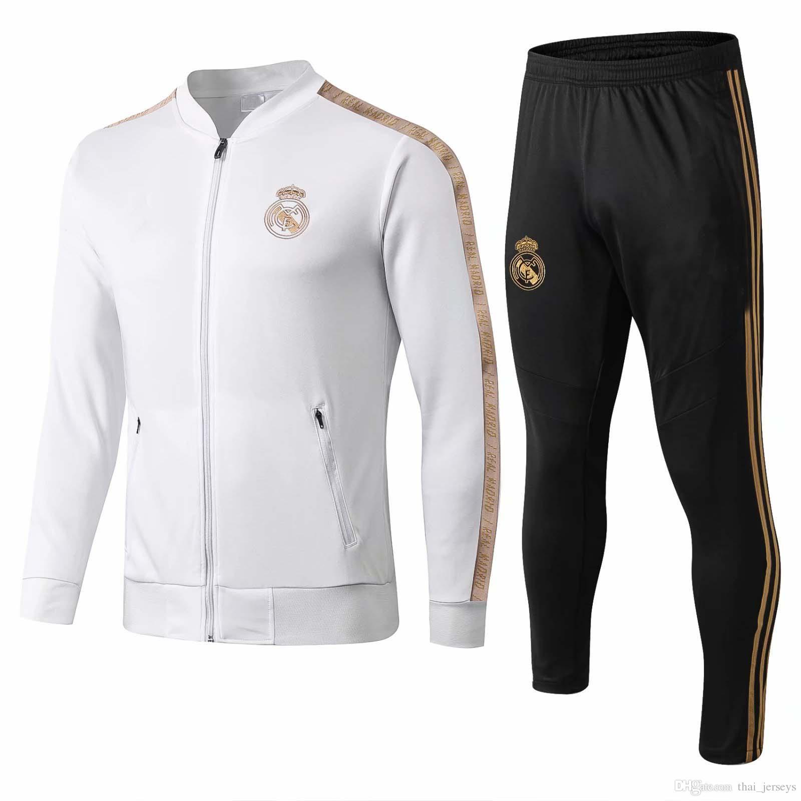 new 2019 Real Madrid tracksuit adult soccer chandal Maillot De Foot tracksuit 2020 adult training suit survêtement Sportswear