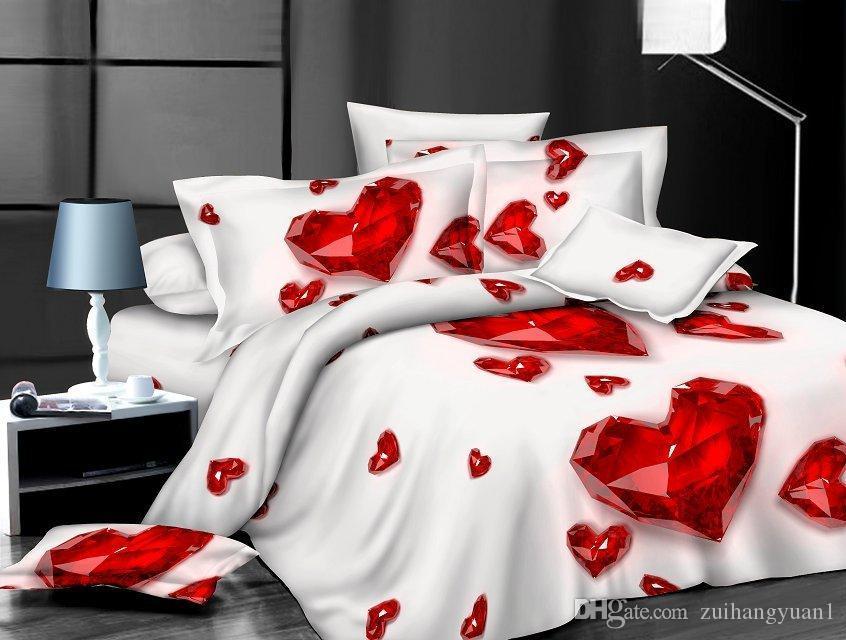 3pcs / 4pcs الشعبية الحرير Damask Bed Linen غطاء غطاء السرير Jacquard Bedsheet Sets Favour Silk Bedding Set King Size