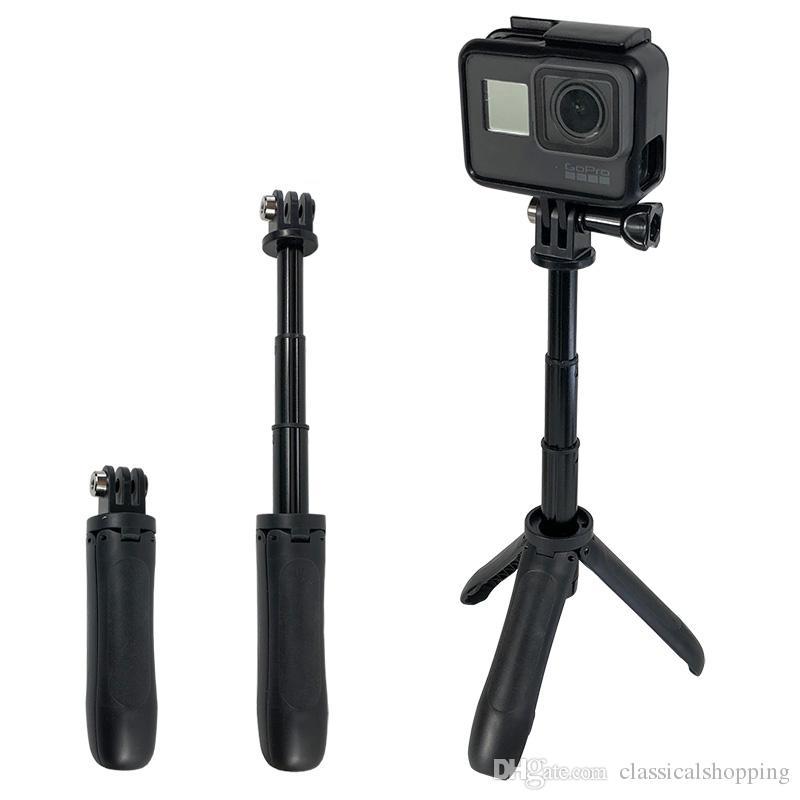 Montaje de trípode portátil Mini selfie balancín extensible Monopod para GoPro héroe 7 6 5 4 3 + SJCAM Xiaomi YI 4k EKEN H9 Sony Deporte