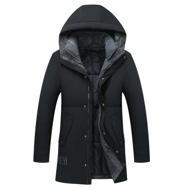 Moda Kış Sıcak Kapşonlu Palto Parkas Erkek Kalın yastıklı Palto Çamaşır Erkek Windproof Dış Giyim Ceket Elbise
