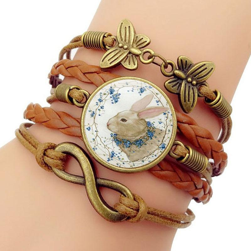 Easter Rabbit Time Bracelet Butterfly 8 Word Group Combine Hand Rope Ornament