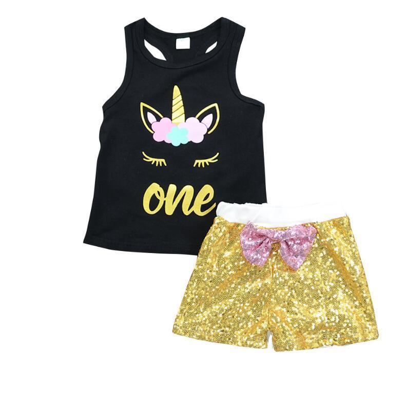 INS NOVO Menina da criança roupas de verão Vest Tops Shorts 2pcs Baby Girl Outfit Suit FRETE GRÁTIS