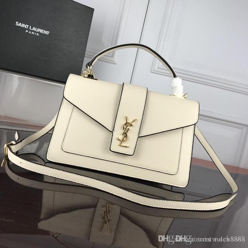 Límites globales vendedor de alta calidad totes bolsos de diseño de lujo bolsos de cuero real bolso de hombro de las mujeres cruzada Cuerpo 66131 ro
