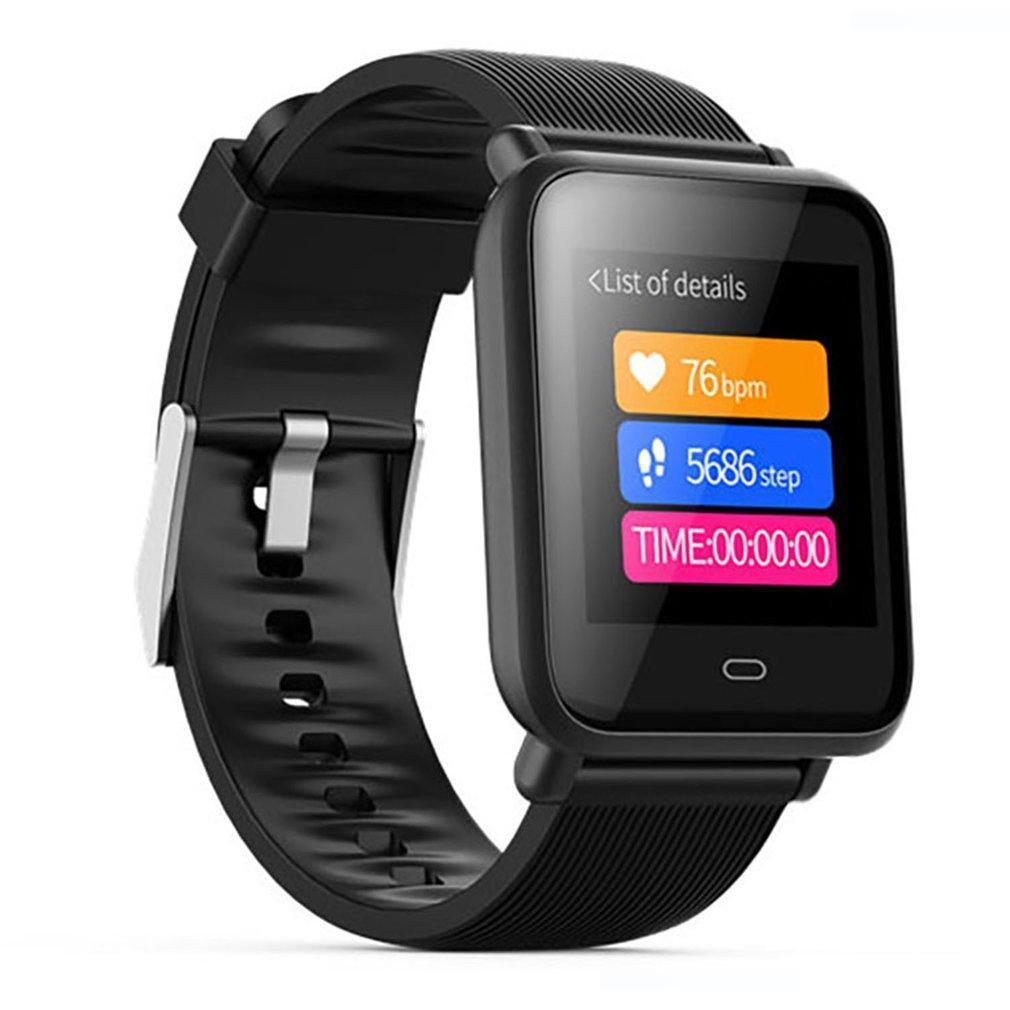 Q9 Big Smart Screen BraceletSport de Fitness Rastreador Heart Rate inteligente Pulseira IP67 Smartwatch Homens
