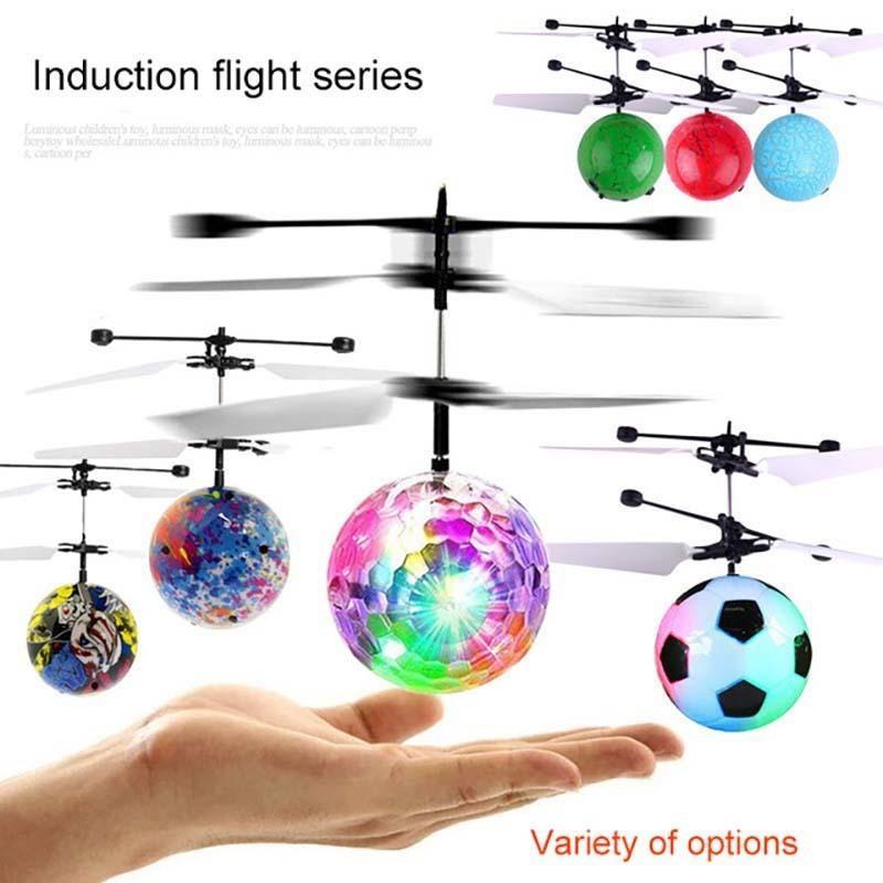 Bola Voadora das crianças Luminosa Brinquedos Fantasia Novo Mini Aeronaves Levitated Light Up Sensor Inteligente Crianças Luminosas Ordem Do Presente 6 Pcs Mix Atacado