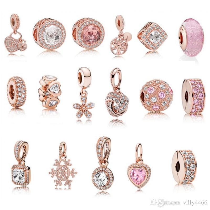 S925 Ювелирные изделия из стерлингового серебра Diy Бусы Подходит для pandora Ale Charm Для Pandora Браслеты для женщин Для европейского розового золота