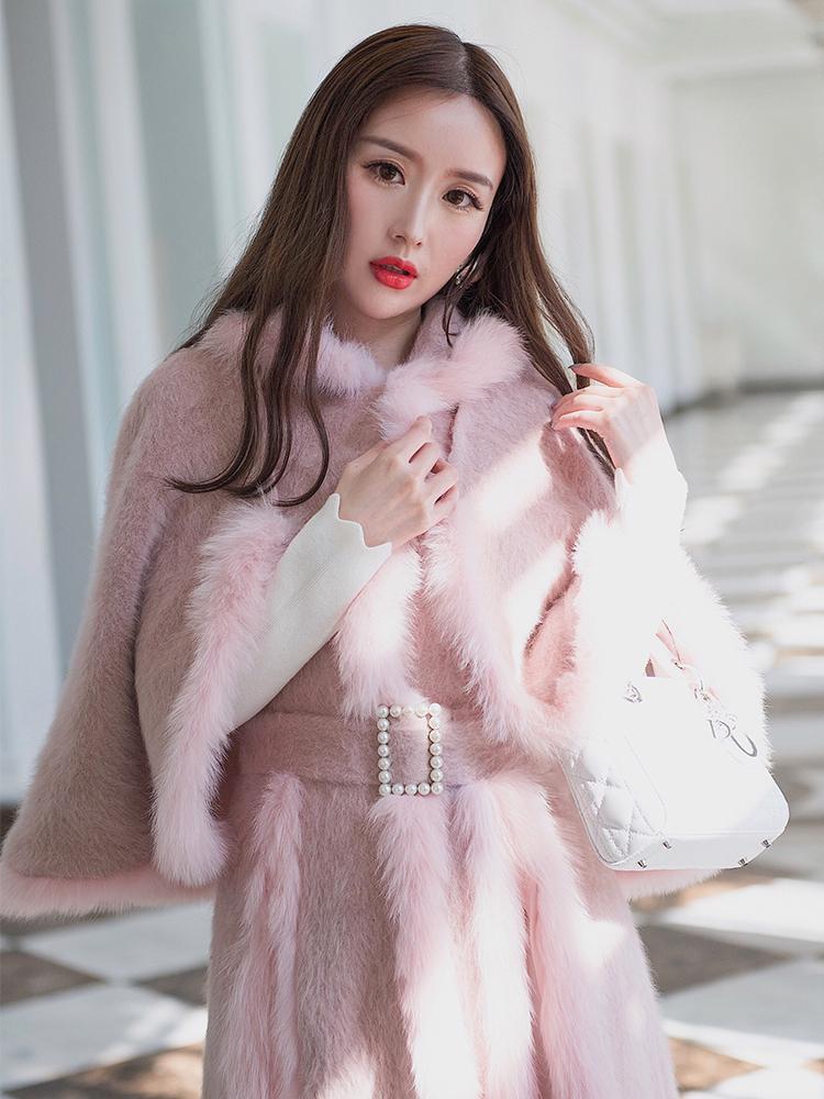 Women's Fur Coat Autumn Winter Jacket Women Korean Cloak Vest Women Tops Mink Fox Fur Coat Female Jacket Veste Femme ZT1706