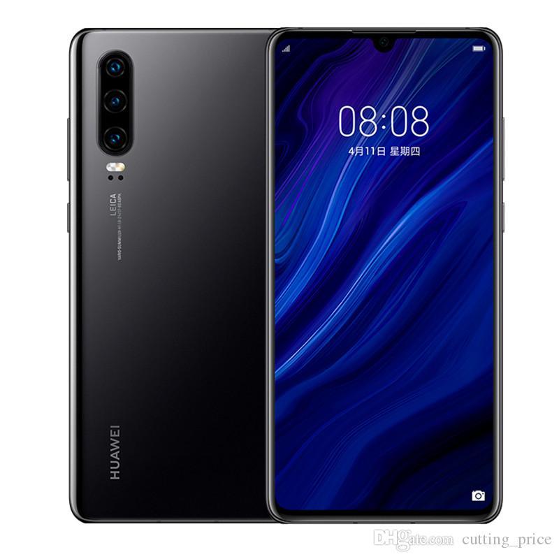 "Original Huawei P30 4G LTE Cell Phone 8GB RAM 128GB 256GB ROM Kirin 980 Octa Core 6.1"" Full Screen 40MP IP68 Fingerprint ID NFC Mobile Phone"