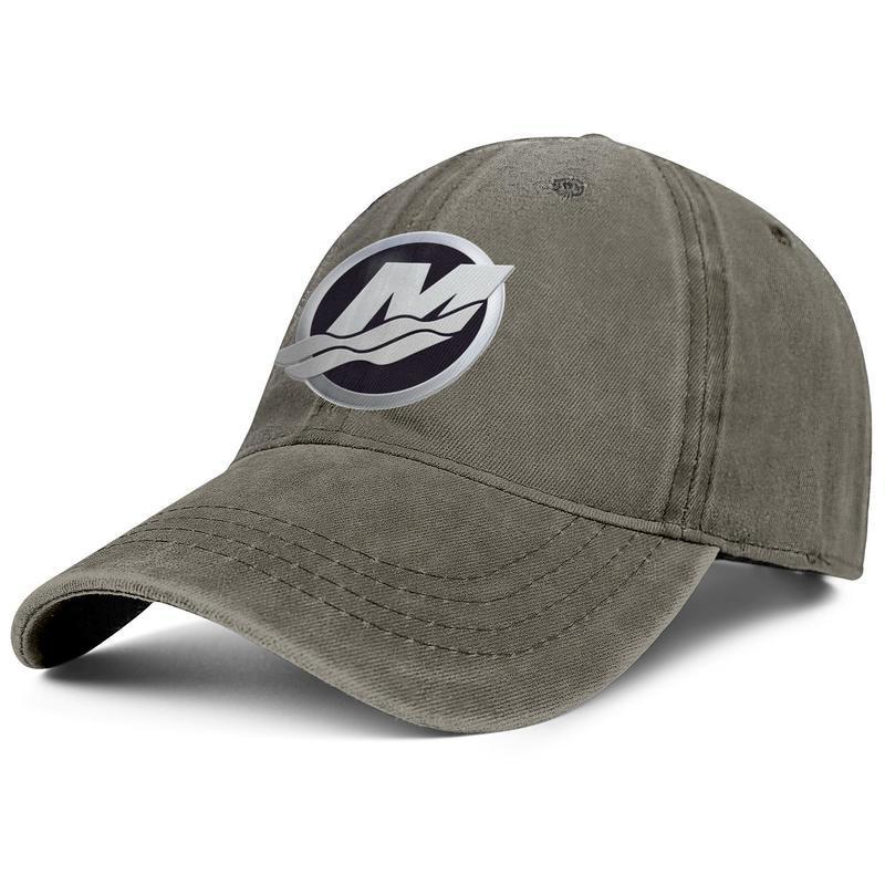 Mercury Marine Unisex denim baseball cap golf sports cute best hats Logo Evinrude1 go boldly wally American flag Vintage old Red Loog