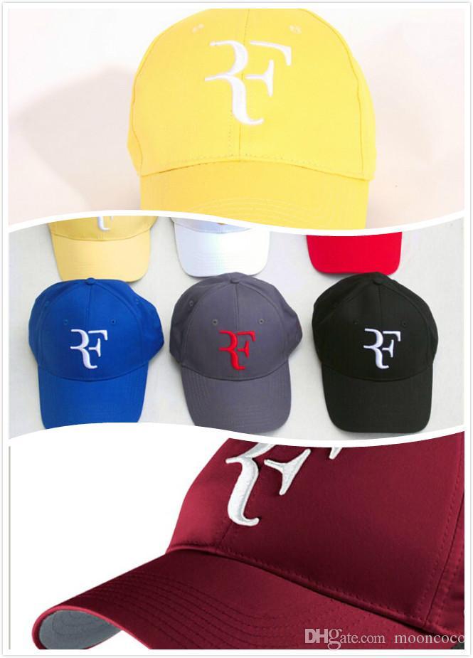 Gorras de béisbol calientes de alta calidad 2019 hombres mujeres Roger Federer RF Hybrid Hat raqueta de tenis hat cap