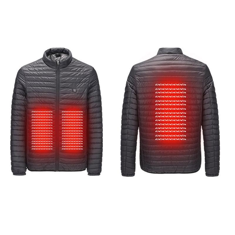 Hot winter electric Heated Vest Thermal thermostat heating jacket For Skiing Hunting Warm Heating Clothes smart USB interface#G9