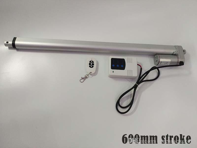 600mm course longue de 10 mm vitesse 1000N charge max 12V / 24V actionneur linéaire à courant continu sans fil 12v entrée controllor