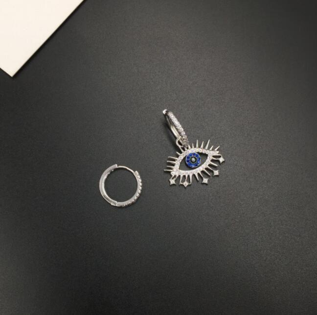 Simple lucky rhinestone stars alternative personality fashion hip hop eyelash earrings asymmetric creative sweet super fairy earrings