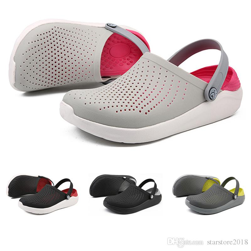 2019 New Whole sale Soft bottom breathable non slip sandals for men women grey pink white sports sneakers size 37-44 free shipping