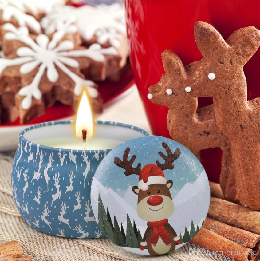 هدية 1SET = 4PCS عيد الميلاد الشموع المعطرة الديكور بابا نويل ثلج المخروط الشموع الذي لا يدخن الرئيسية زفاف حفلة عيد الميلاد شمعة عيد الميلاد