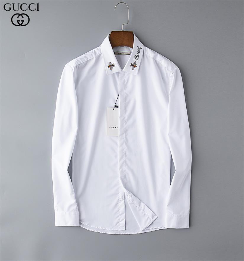 Brand Men's Business Casual shirt mens long sleeve striped slim fit camisa masculina social male T-shirts new fashion man checked shirt 11