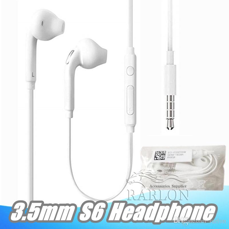 -Orecchio di 3.5mm Wired auricolari Earbuds auricolare con il Mic e di volume telecomando delle cuffie per Samsung Galaxy S6 S8 S9 Senza Packaging