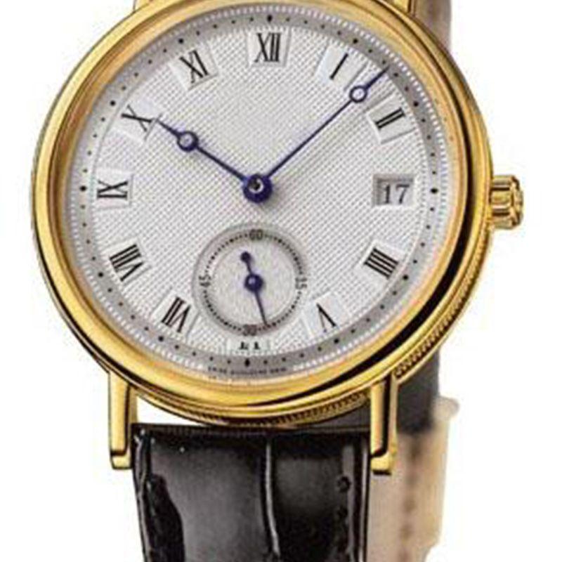 relógio Brilliant820305 Pigeon, a beira do ouro, data automática, agulha pulseira de couro fivela de entrega gratuita