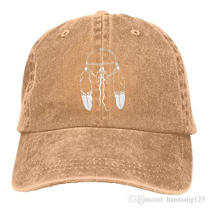 2019 New Designer Baseball Caps American Indian Dream Catcher Feathers Mens Cotton Adjustable Washed Twill Baseball Cap Hat