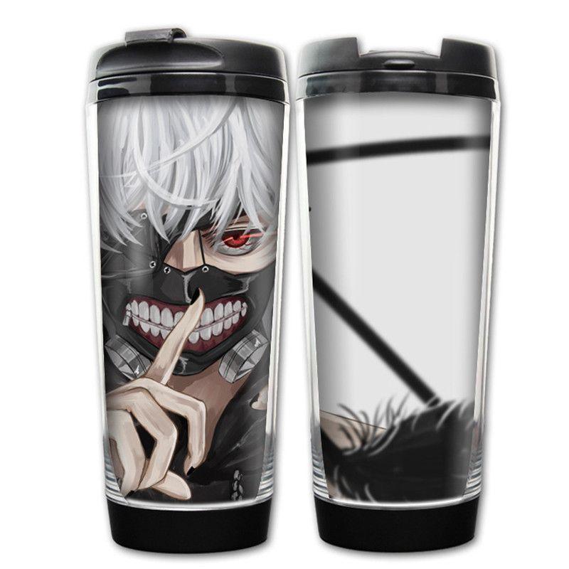 400ML Anime Tokyo Ghoul Kaneki Ken Plastic Water Bottle Drinkware Outdoor