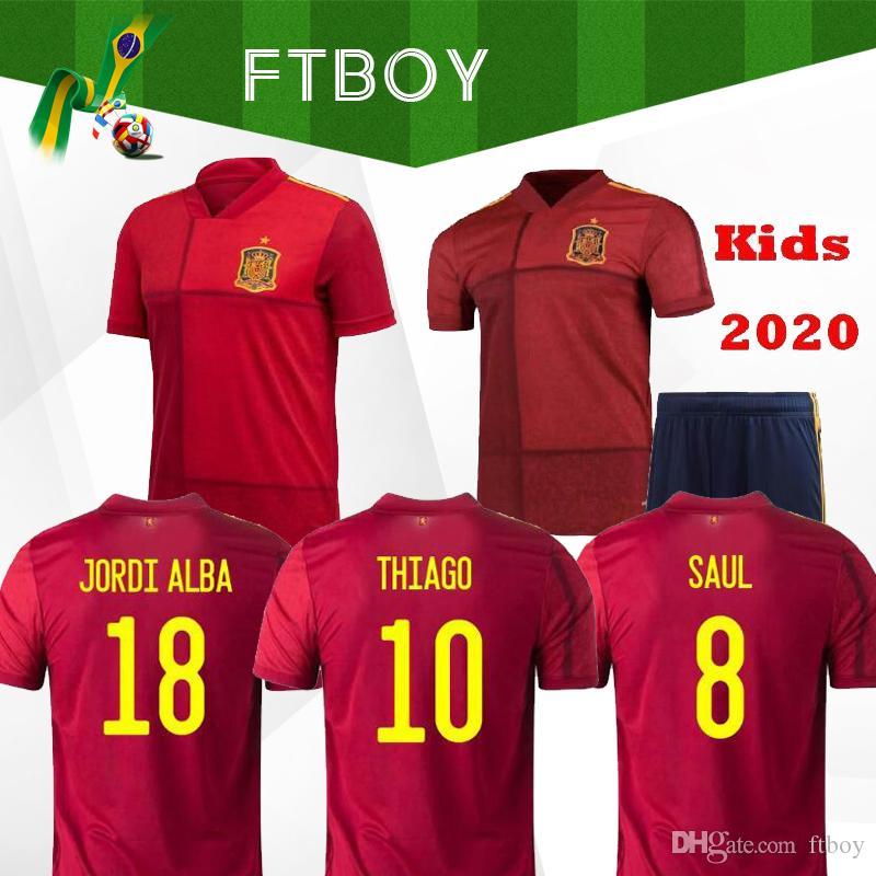 2020 멀리 홈 축구 유니폼 2020 2021 Camiseta de Futbol Asensio Morata 축구 셔츠 Isco Ramos Iniesta Maillot 발