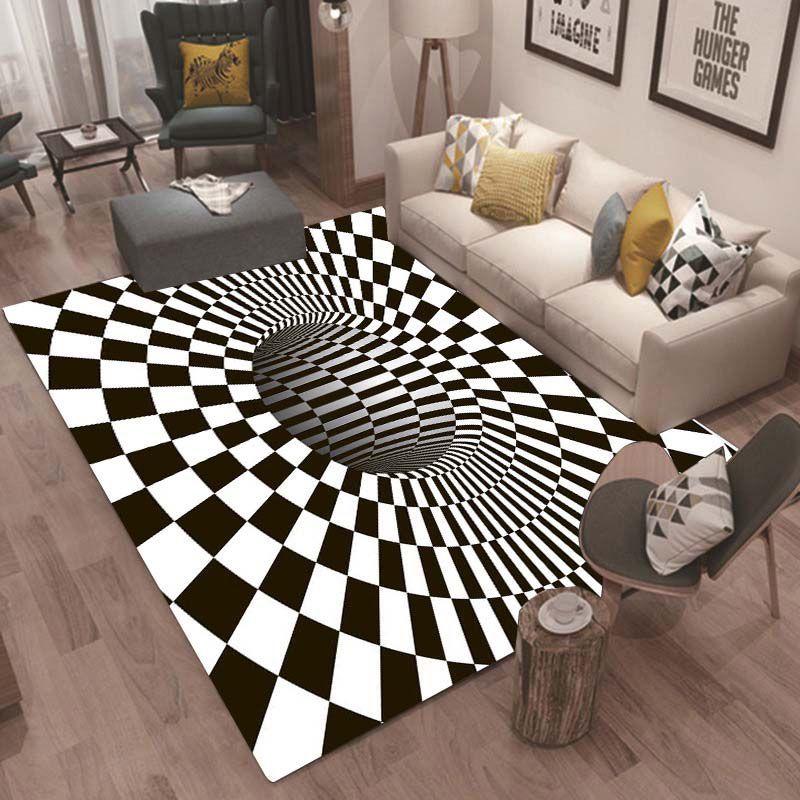 3D Soft Carpets Creative Geometry Optical Illusion Rug Bathroom Living Room  Floor Anti Slip Mat Bedroom Bedside Coffee Table Carpet Decor Buy Carpet ...