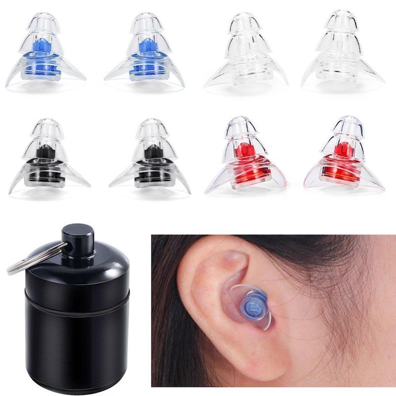 الدقة العالية سيليكون الموسيقار تصفية سدادات الأذن للحد من الضوضاء الغاء حماية السمع ياربود قابلة لإعادة الاستخدام طب النوم Musicsafe سدادات الأذن