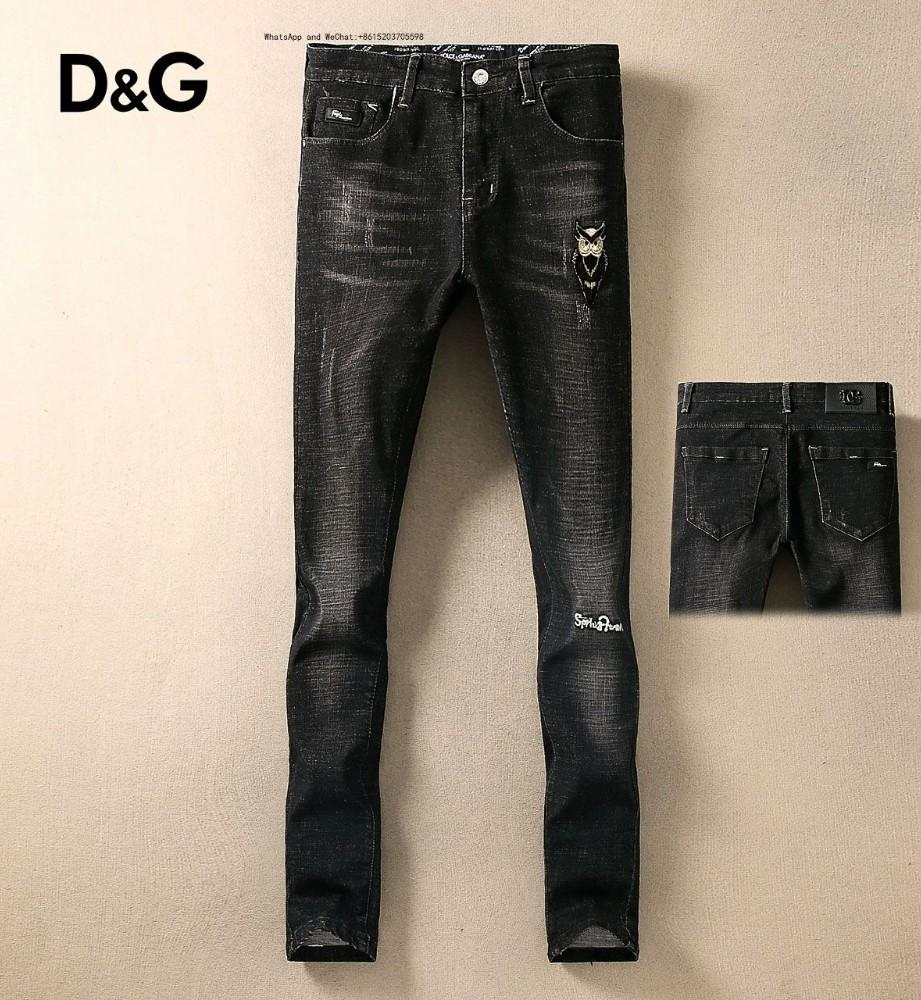 52811 High Street Man Jeans Wathet Hole Willow Unghie Decora Slim forza elastica Piccolo Piedi Pantaloni