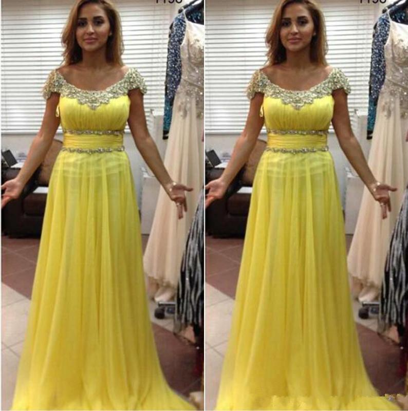 Hot Chiffon Mother of the Bride Dresses Scoop Capped Sleeves Beaded Sash Wedding Evening Party Gowns Long A Line Prom Dress Z69