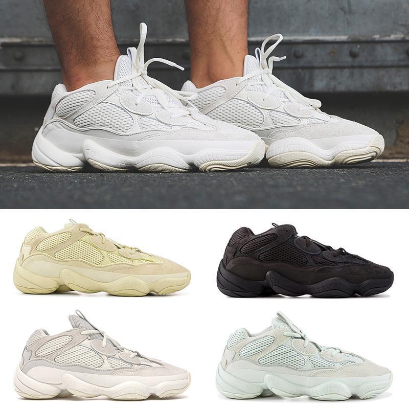 Nueva Soft Vision 500 Kanye West Súper Luna Amarillo Negro Utilidad Blush Sal estilista Deportes zapatillas blancas zapatillas de deporte Hombres Mujeres top zapato de la calidad