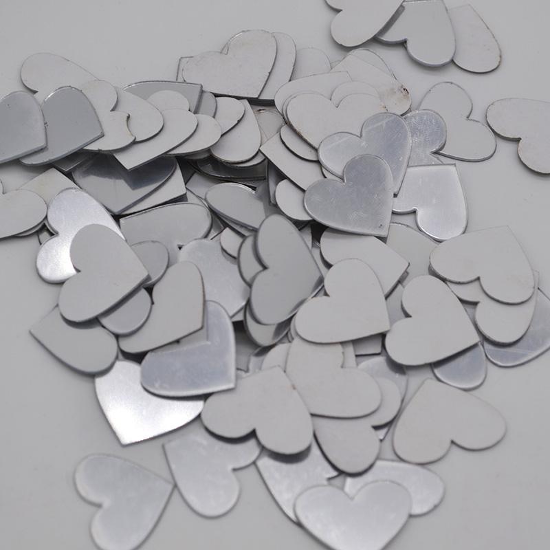 100pcs / lot 2cm che Shape Mini 3D Acrilico Specchio muro Adesivi Cuore / rotonda della decalcomania degli autoadesivi mosaico specchio Effetto Soggiorno Home Decor