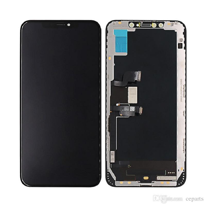 OLED per display LCD Digitizer Assemblea completa iPhone X XS XS Max sostituzione dello schermo LCD 3D di tocco di colore nero 5,8 pollici di trasporto del DHL