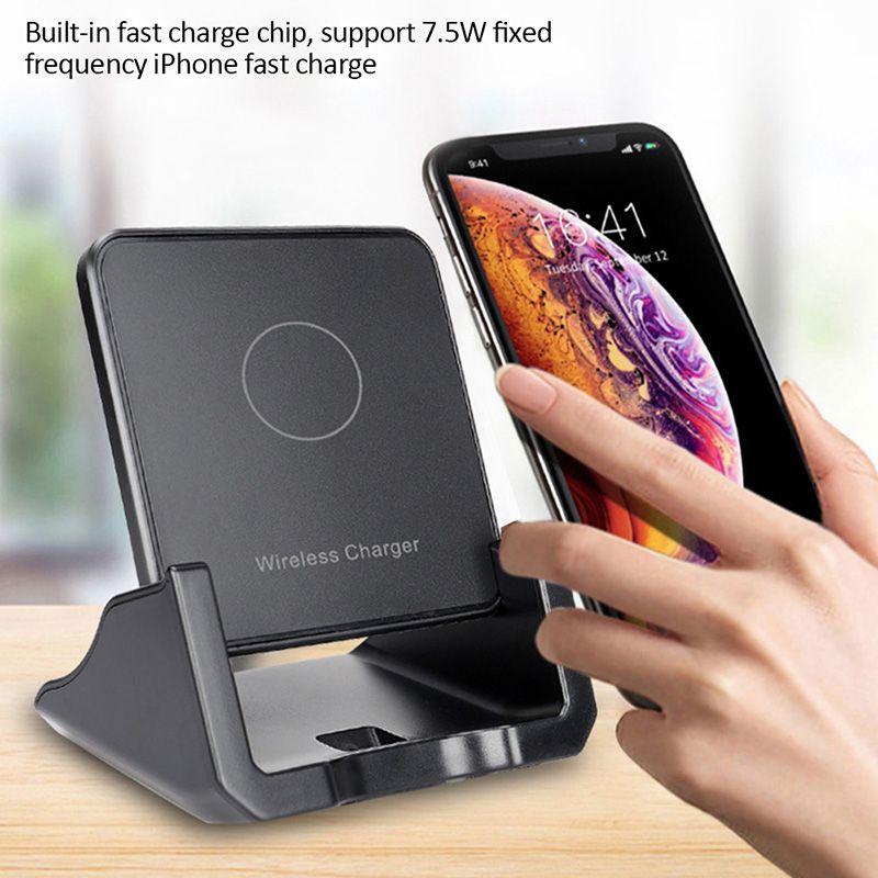 10Вт Домашний телефон Holder Беспроводное зарядное устройство квадратной формы DesktopFast Подставка для зарядки для IPhone 11 X 8 Быстрый Быстрая зарядка