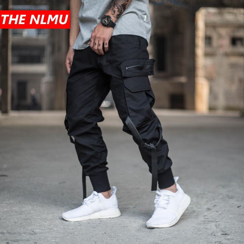 Mens Multi-poches Harem Pantalon Hommes Streetwear Punk Cargo Pant Hip Hop Casual Pantalons Joggers Homme Pantalon Noir GW014LY191112