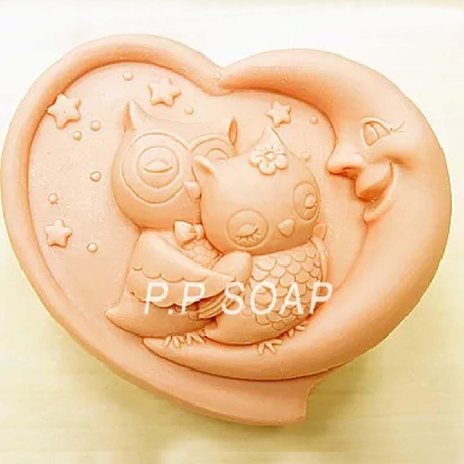 3d luna orso muffa del cioccolato muffa di cottura del silicone per saponetta tartufo gelatina e muffa ghiaccio caramella