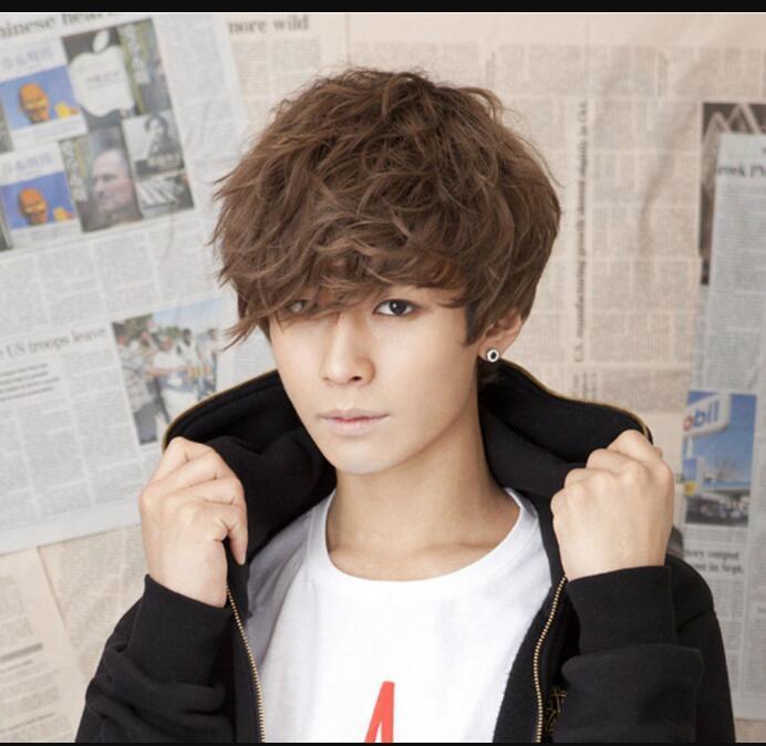 WIG LL FREE Hot hair resistente al calor PartyHandsome Boys peluca moda coreana hombres cortos pelucas cosplay del pelo