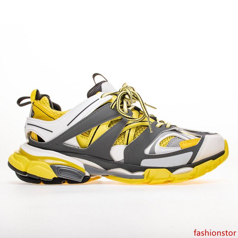 Seguir 3,0 zapatillas de deporte de los hombres Tess París Gomma Maille Negro Bajo Pista 3M Triple S zapatos corrientes de aire libre para correr zapatos de diseño 35-45