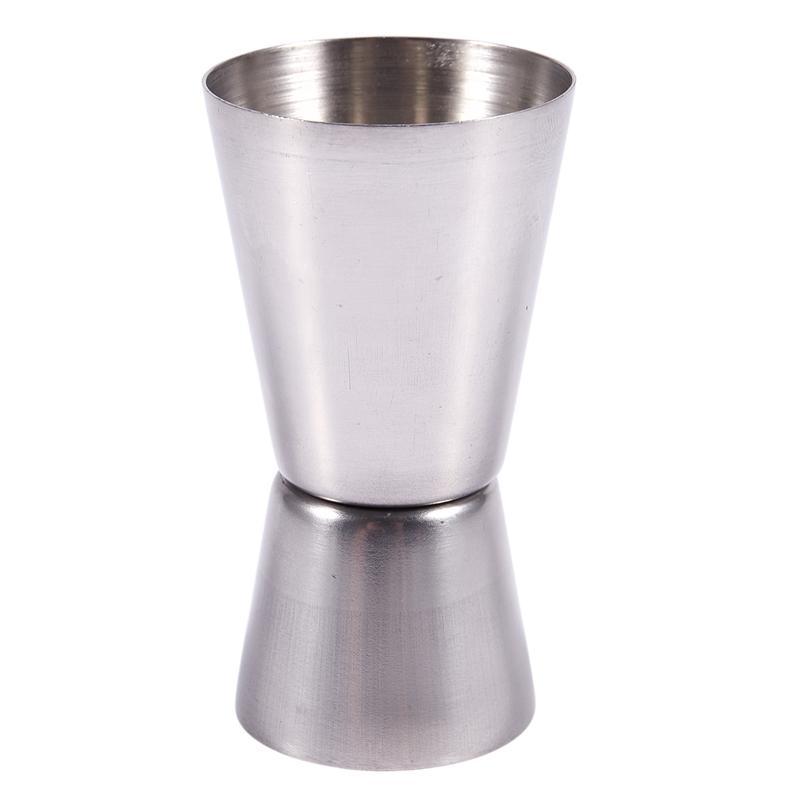 BEAU-Çift fincan dağıtıcı Paslanmaz Çelik Ölçü Alkol Kokteyli Bar Bistro 40 / 20cc