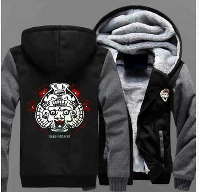 Mayans Mc Jacke Männer Großhandel Hoodie Nomad Herbst Verdicken Winter Warm Hoody 2019 Reißverschluss Hoodies Fleece Sweatshirts Frauen Kleidung oCedBx