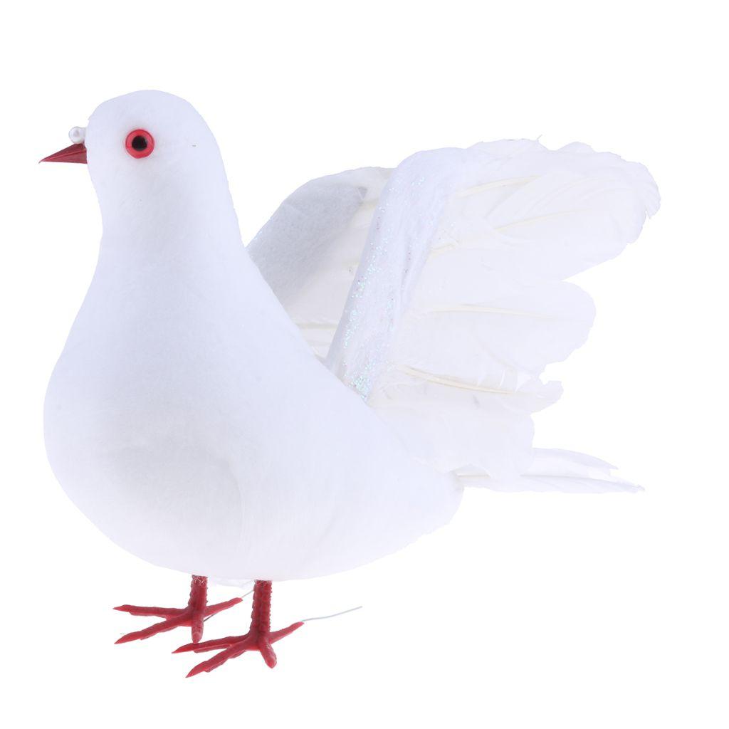 Fake Artificial Feather Foam Doves Birds Wedding Decoration Venue Ornament