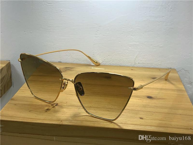 Eye Gold Frame / Brown Cat New Donne Occhiali da sole Occhiali da sole Fashion Occhiali da sole ombreggiati Abbigliamento Lenti con custodia BXLK