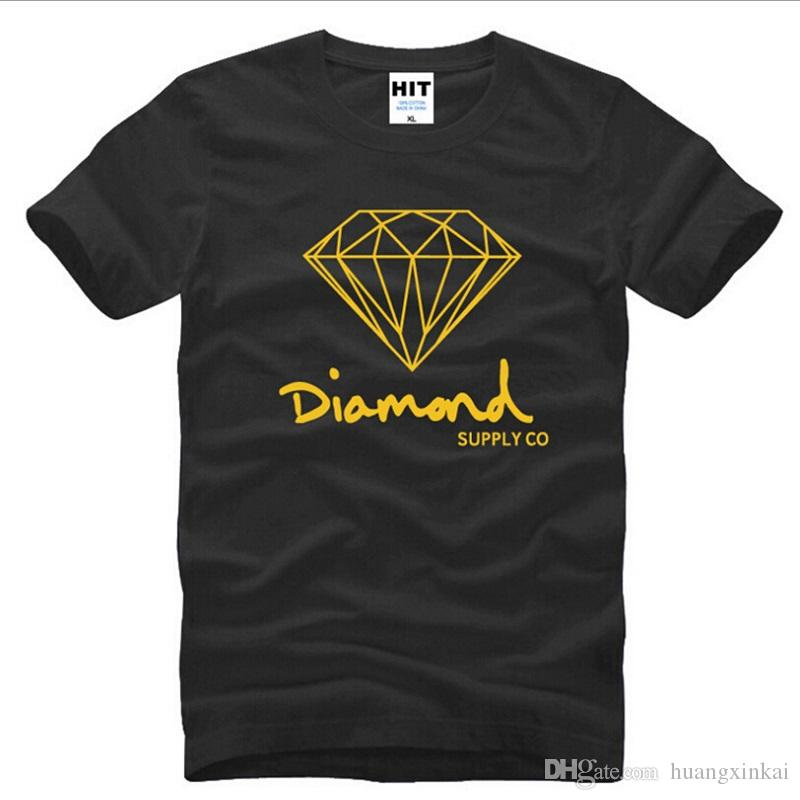 Nouvelle mode estivale manches courtes Nouvelle impression Diamond Supply Co hommes t-shirt Skate Marque Hip Hop top tee Streetwear Fitness Sport Vêtements