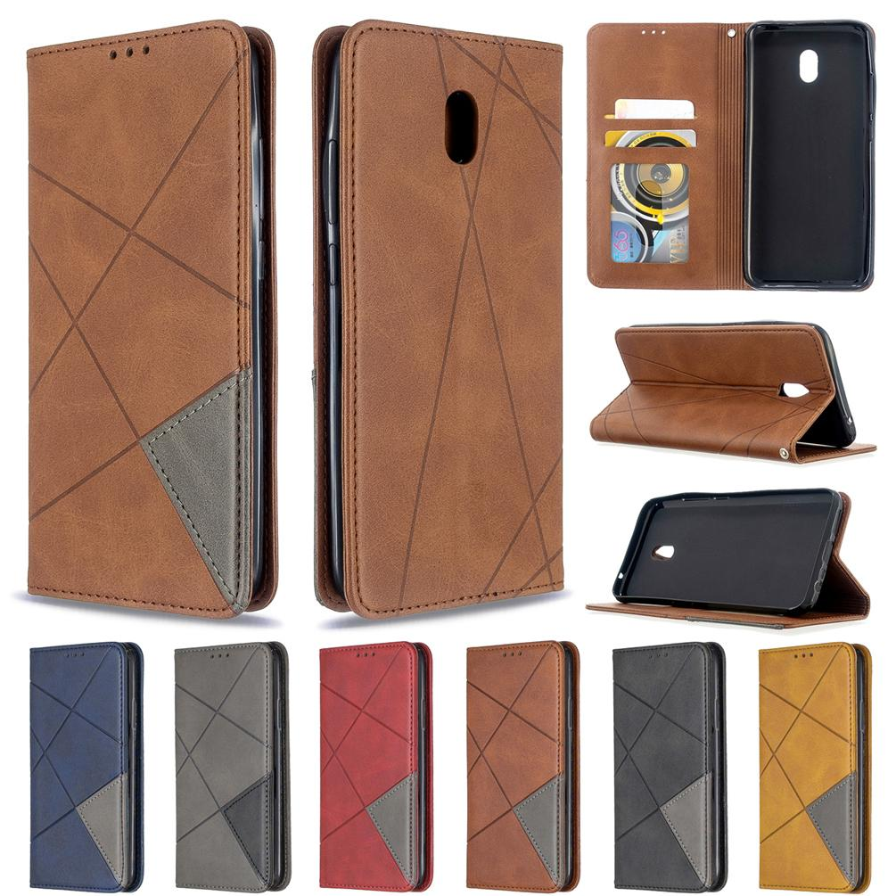 Cell Phone caso per il Xiaomi redmi 8A addensare Triangolo antivegetativa design con supporto del raccoglitore della carta Catena Strap Hole (modello: Redmi8A)